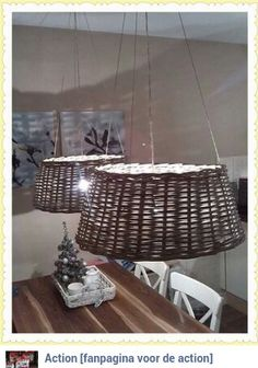 Lampenkap van kerstboommand. Gezien op de Action fanpagina - BespaarMama