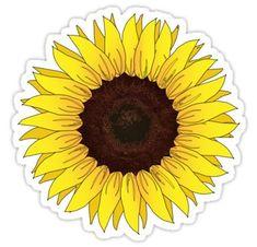 """Sunflower"" Stickers by jorigelbaugh Tumblr Stickers, Phone Stickers, Cool Stickers, Printable Stickers, Preppy Stickers, Frühling Wallpaper, Computer Wallpaper, Homemade Stickers, Red Bubble Stickers"