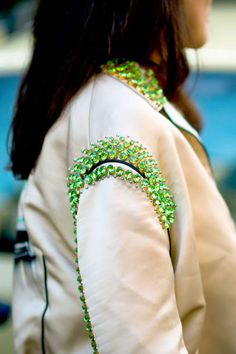 DIY CLOTHING INSPO | Lime Green Jewels