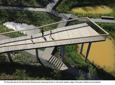 The Transformed Stormwater Park - Qunli National Urban Wetland / Turenscape - The project demonstrates a Stormwater park that acts as a green sponge, cleansing and storing urban stormwater and can be integrated with other ecosystem services including the protection of native habitats, aquifer recharge, recreational use and aesthetic experience; while in all these ways fostering urban development...