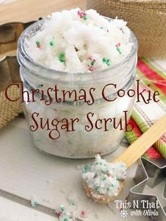 Christmas Cookie Sugar Scrub Christmas Cookie Sugar Scrub Related posts:Lavender Soap: Homemade Christmas GiftsDIY Christmas Gifts People Actually Want to Receive Sugar Scrub Homemade, Sugar Scrub Recipe, Butter Recipe, Sugar Scrub Cubes, Body Scrub Recipe, Homemade Soaps, Diy Lip Sugar Scrub, Simple Sugar Scrub, Homemade Bath Salts