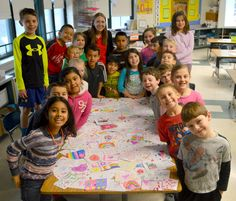 East Goshen Elementary creates Valentine cards for Bellingham Retirement Home! #WCASD #community