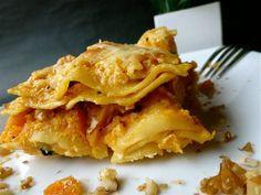 Lasagnes à la courge butternut, chèvre, noisettes - 4 …