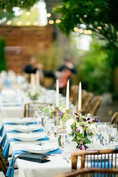 Jael and Gilbert's backyard dinner party reception. Photos by Betty Elaine. See more..... @intimateweddings.com #tablescape #tabledecor