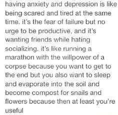 having depression and anxiety is like tumblr - Google Search