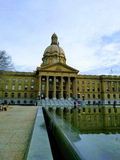 Edmonton Legislature Louvre, River, Building, Buildings, Construction, Rivers