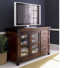 "Kavari 57"" Media-Storage Console in Media Stands, Consoles 