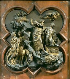 View top-quality stock photos of Sacrifice Of Isaac 1401 By Lorenzo Ghiberti Bronze Tile Made For Competition For Portal Of Baptistery Florence Italy. Find premium, high-resolution stock photography at Getty Images. Lorenzo Ghiberti, Photo Album Scrapbooking, Chef D Oeuvre, Objet D'art, Sacred Art, Renaissance Art, Les Oeuvres, Art History, Sculpture Art