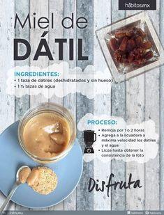 Miel o dulce de dátiles! Raw Food Recipes, Sweet Recipes, Vegetarian Recipes, Cooking Recipes, Healthy Recipes, Healthy Cooking, Healthy Snacks, Nutella, Vegan Life