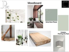 A moodboard created for a renovation project of a beauty salon.
