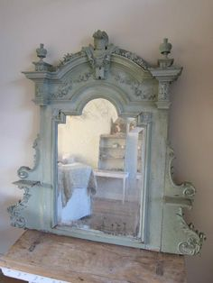 Maybe I should color wash my mirror in blue?