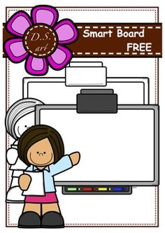 FREE Smart Board (color and black&white) Classroom Clipart, School Clipart, Classroom Crafts, Music Classroom, Free Teaching Resources, Teaching Tools, Teacher Resources, Physical Education Games, Kids Education
