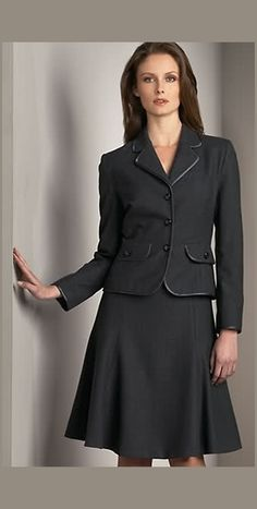 Womens suit - would have a more fitted jacket with bigger armpit um... space.
