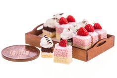 Tray of mini desserts dollhouse miniature food