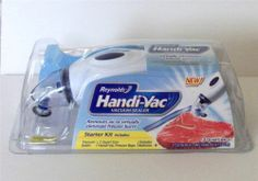 Great for avoiding freezer burn. Reynolds Handi-Vac Handheld Vacuum Sealer Starter Kit for Leftover Food Storage