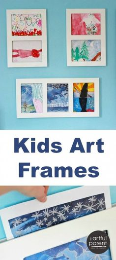 Kids Art Frames for Displaying and Changing out Childrens Art