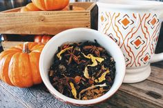 Loose leaf tea: Organic Pumpkin Harvest Chai Tea Handcrafted Small Batch Artisan Washington Loose Leaf Tea by BeachHouseTeas on Etsy
