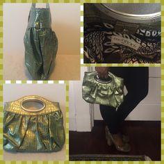 Super cute clutch LIKE NEW! Inside zipper pocket. magnetic closure. Roomy but compact! Mondani New York Bags Clutches & Wristlets