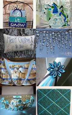 The Christmas Blues by deb on Etsy-