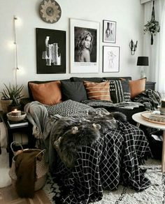 cozy and modern urban family room, love the rustic elements and natural colour s. : cozy and modern urban family room, love the rustic elements and natural colour scheme, brilliant with hardwood and classic Edison bulbs Home Living Room, Apartment Living, Living Room Designs, Living Spaces, Living Room Decor College, Living Room Setup, Cosy Apartment, Living Room Goals, Deco Studio