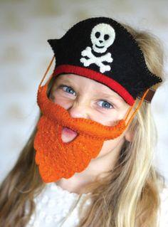 Sew Heart Felt Pirate Hat And Bushy Beard | Scandi Mini