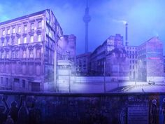 exhibition asisi Panorama, view from Kreuzberg to Mitte in the 80's
