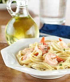 Creamy Cajun Chicken & Shrimp Pasta