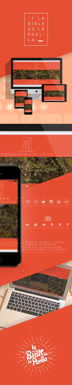Web Design - La Bible De La Paella. on Behance