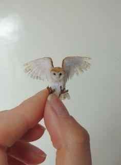 Anya Stone miniature owl sculpture  Wow. Impressive.
