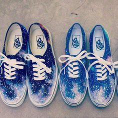 galaxy vans shoes | Tumblr on-- I have and LOVE them