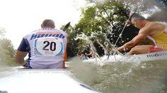 Descenso del Sella 2014 con GoPro en la piragua vencedora Bouzán-Fiuza. Vídeo HD. Más info http://www.desdeasturias.com/el-descenso-internacional-del-sella/