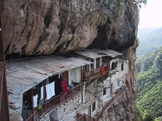 """A less conventional earth-sheltered complex - and - an optimist's definition of """"in between a rock and a hard place"""""""