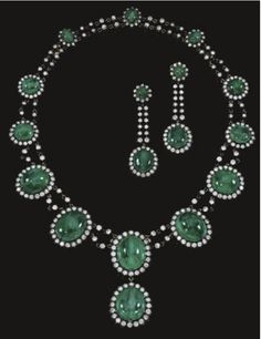 Maharaja Emerald Parure from the Condesa Vda de Ramanones