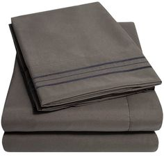 Amazon.com: 1500 Supreme Collection Extra Soft King Sheets Set, Gray - Luxury Bed Sheets Set With Deep Pocket Wrinkle Free Hypoallergenic Bedding, Over 40 Colors, King Size, Gray: Bedding & Bath