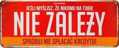Tabliczka metalowa Jeśli myślisz, że nikomu na ... - Księgarnia religijna BoguLandia.pl