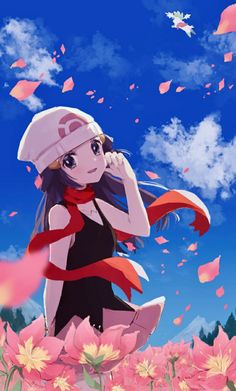 Pokemon Games, Nintendo Pokemon, Pokemon Pokemon, Mythical Pokemon, Video Game Companies, 3 Characters, Blue Hair, Aesthetic Anime, Pink Flowers