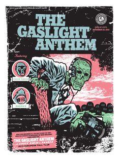 Gaslight Anthem European tour 2010. Great gig but poster freaks me out a bit