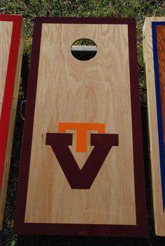 Virginia Tech Corn Hole Boards Corn Hole, Virginia Tech, Cornhole Boards, Bottle Opener, Fun, Hilarious