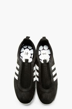 ADIDAS ORIGINALS BY O.C. Black Leather TAE KWON DO GAZELLE Sneakers