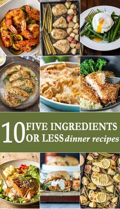 After a long day, the last thing you want to do is struggle over cooking dinner. We're here to help. Today we're sharing 10 dinner recipes that require five ingredients or less! Yes. With a handful of ingredients, you can have dinner on the table in no time. Enjoy! via @beckygallhardin