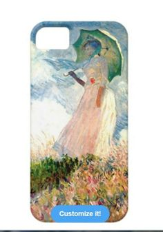 Claude Monet iPhone Case available at: http://www.zazzle.com/woman_with_parasol_promenade_monet_case-179309794121360730?rf=238623693837530845