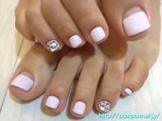 Pink Baby Foot French nail straight    these are cute♥