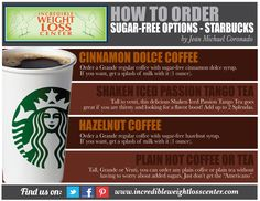 How to order sugar-free options at Starbucks