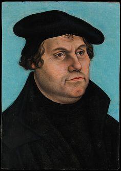 Martin Luther (1483–1546), Workshop of Lucas Cranach the Elder  (German, Kronach 1472–1553 Weimar), Oil on wood