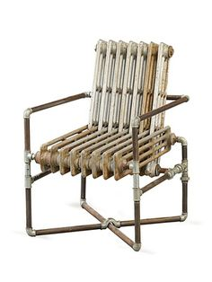 The Radiator Chair by Sarreid on Gilt Home    maybe with cushions