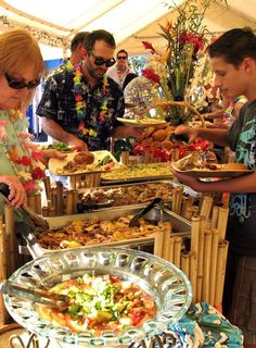 ... buffet. The following menu is fresh and simple, perfect for any Luau