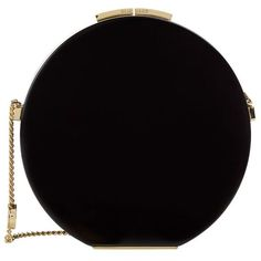 Elie Saab Round Chain Shoulder Bag (£1,300) ❤ liked on Polyvore featuring bags, handbags, shoulder bags, chain shoulder bag, elie saab, clasp purse, chain strap handbag and round handbag