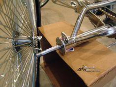 """Cruiser Trike - use 24"""" or 26"""" 140 spoke chrome wheels"""