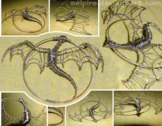 Magnify for details! As you can see it's a wire wrapped dragon I got somewhere the idea, but got carried away by my own vision and it turned out to be something a bit different with my kind of arti...