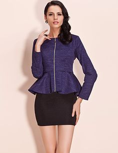 Go Peplum for less than $20. A jacket to spice up your outfit!